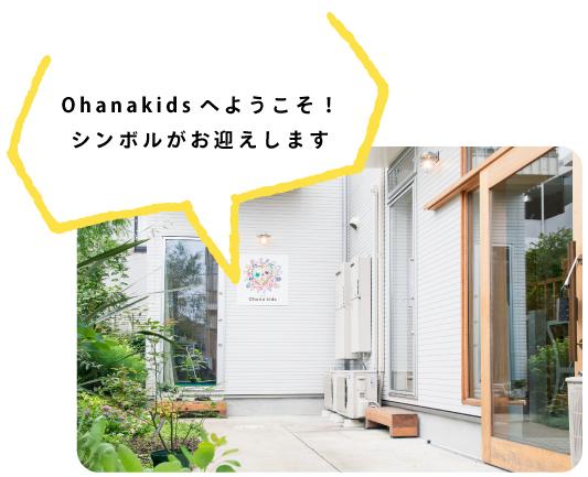 Ohanakidsへようこそ!シンボルがお迎えします