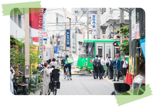 住民・学生・観光客と、いつも活気あふれる松陰神社前商店街